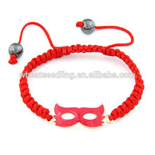 Red party face mask rouge corde bracelet chanceux