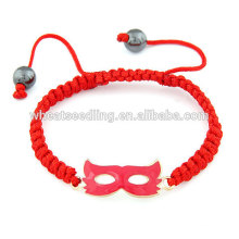 Red party face mask red rope lucky bracelet