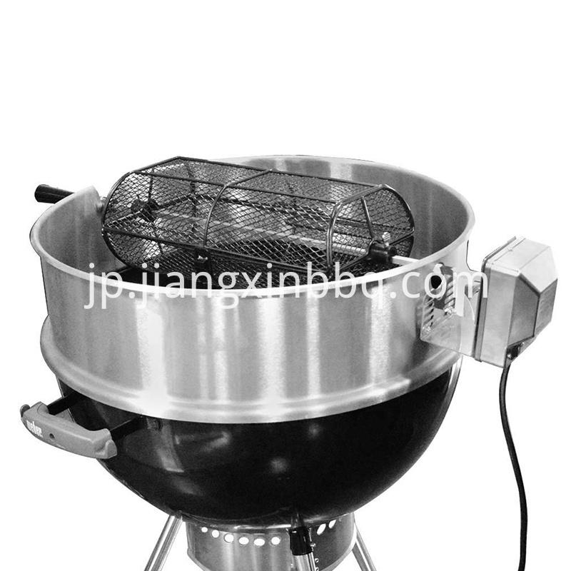 Universal Rotisserie Grill French Fries Basket On Kettle Grill