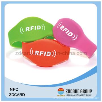 Impermeable Nfc Silicon RFID pulsera suave correa de muñeca