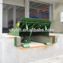 stationary adjustable warehouse loading ramp