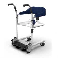 Transfer Lift Chair with Commode Wheelchair for Handicapped