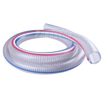 3/4 Zoll klar PVC Stahldraht verstärkt Schlauch