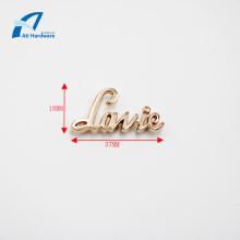 High Quality Fashion Logo Metal Decoration Handbag Label