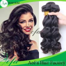 Trama brasileira do cabelo humano de Remy do cabelo do Virgin da onda do corpo da categoria 7A