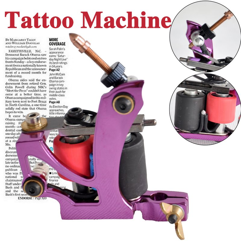 purple tattoo gun