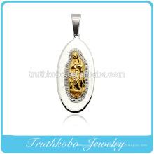 Truthkobo Casting en acier inoxydable 316l haut de gamme Marie Mère de Christ Dieu prière bijoux