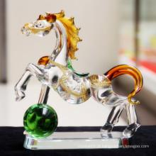 Cavalo Running de cristal de vidro agradável para o presente da lembrança