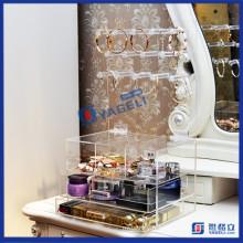Beautify Organiseur de maquillage cosmétique transparent Support de porte-collier