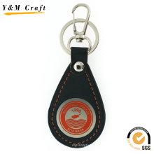 Corrente chave de couro feita sob encomenda do presente relativo à promoção quente da venda para o Natal