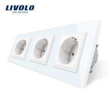 Livolo Prises de courant murales multiples multifonctions standard UE VL-C7C3EU-11