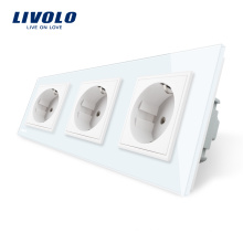 Многофункциональные тройные розетки Livolo EU Standard VL-C7C3EU-11