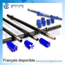 Hex22 * 108mm Taper Drill Stahl Rod für Rock-Bohren
