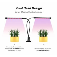 Dual head hydroponic plant led grow lamps