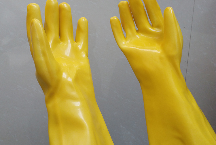 PVC coated gloves in plating