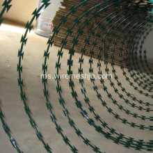 Green Color PVC Coated Concertina Razor Wire