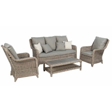 Уличная мебель патио ротанга зал Плетеный диван набор Сад