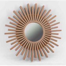 Espejo de pared de inyección de girasol para pared de Deco