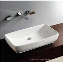 Badezimmer ein Loch Counter Top Waschbecken Hand Waschbecken Kunst Schüssel weiß