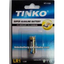with nominal voltage 500mAh LR1 1.5v size N alkaline battery good quality