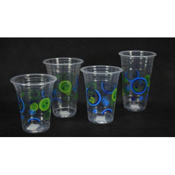 Disposable Cold Plastic Drinking Cup, 12/14/16 Oz