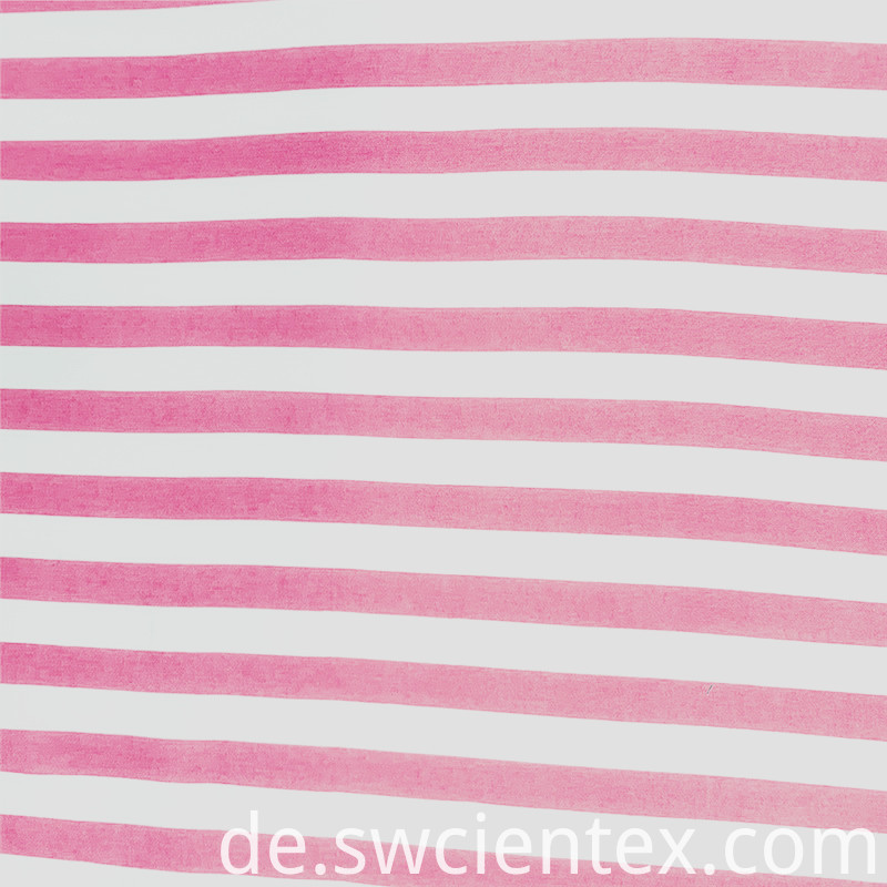 Breathable Striped Rayon Fabric