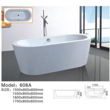 Простая акриловая freestanding Ванна для семьи белый человек Открытый ванна акриловая