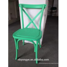Resin Material und No Folded Stapel Kreuz zurück Stuhl