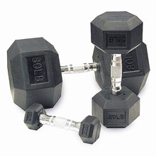 Factory direct hex rubber dumbbell set