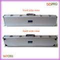 Prata ABS superfície caixa rígida caso de ferramenta de alumínio longo (satc001)
