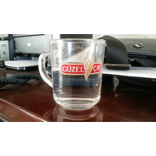 Taza de cristal transparente Taza de cerveza Taza de café Kb-Hn0617