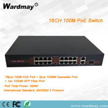 16ch switch port serat tunggal POE