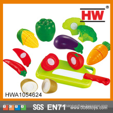 Hot Selling plástico fingir brinquedos vegetais para crianças