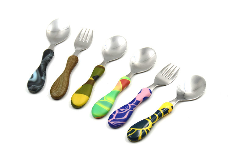 Full Printing ABS Handle Stainless Steel Baby Cutlery