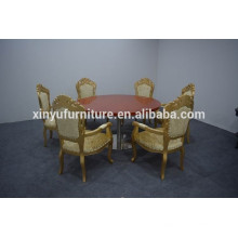 Round dining table and golden dining chair XYN1254