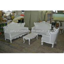 White carved 1+2+3 seater wedding sofa XY0184