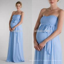 2014 Robe de mariée noire bleue simple Sweetheart Robe de mariée en satin sans bretelles Empire avec châssis Boutique en ligne bon marché NB0891