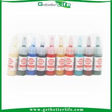 Getbetterlife professionnel sûr 5ml 10colors Getbetterlife marque Kit encre tatouage