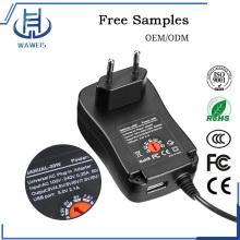 EU Plug 30W Универсальный регулируемый адаптер для нескольких напряжений