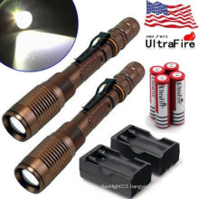 wholesale Rechargeable police security led flashlight
