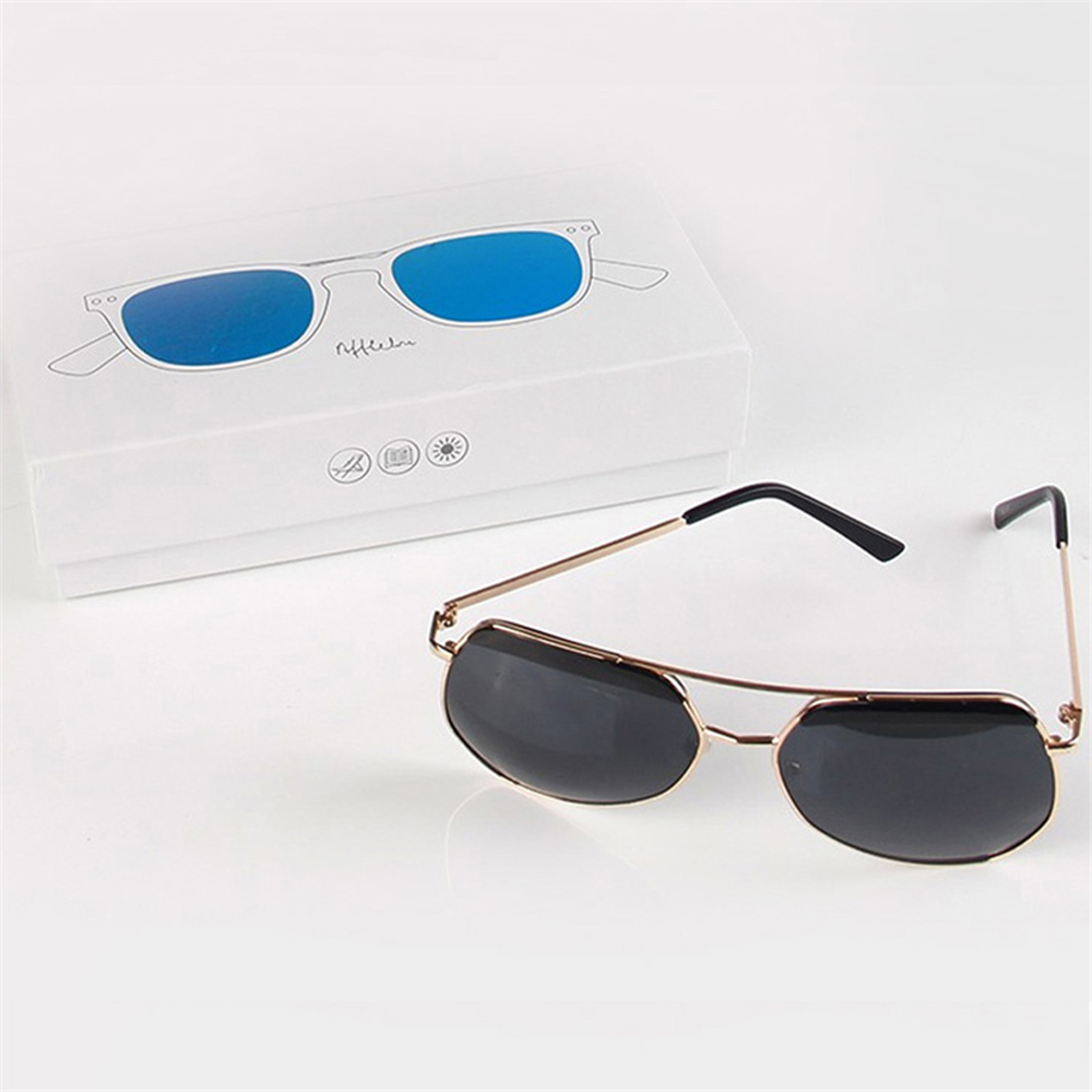 White Printed Paper Sunglasses Packaging Boxes