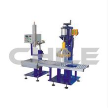 Semi-automatic filling machine for liquid material