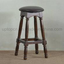 Твердый деревянный круглый высокий барный стул для бистро (СП-HBC253)