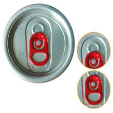 200 couvercles en aluminium à onglet rouge 50 mm