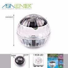 Sun Solar Power LED cor mudou Globe Waterproof Floating Light