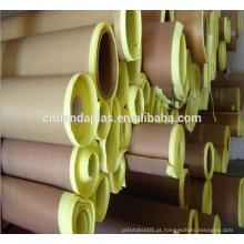 China top 3manufacturer Ptfe revestido de fibra de vidro jumbo rolos com adesivo de silicone com liberação de revestimento
