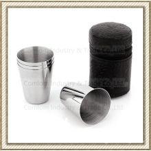 1-15oz Stainless Steel Whiskey Shot Glasses Set