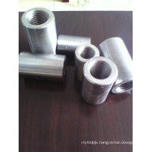 Direct thread rebar coupler