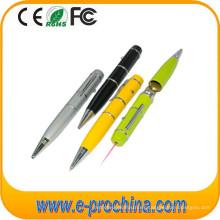 (TD03) Laser Flashlight Ballpoit Pen Forma USB Flash Drive