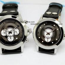 Caliente venta de regalo de Navidad automática de marca de acero inoxidable negro dial hombre relojes mecánicos